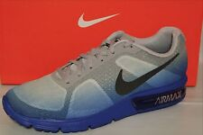 NIKE AIR MAX SEQUENT MEN'S'RUNNING SHOES, RACER BLUE/BLK/ GREY/WHITE 719912