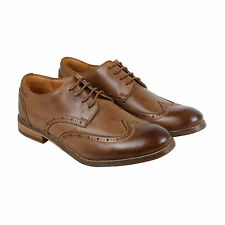 Clarks Exton Brogue Mens Brown Leather Casual Dress Lace Up Oxfords Shoes
