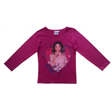 Tee shirt manches longues Violetta Music love fushia