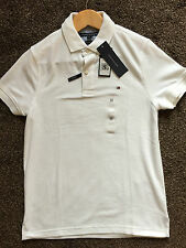 Men's Tommy Hilfiger Performance Polo Shirt White in Sizes XS-XL