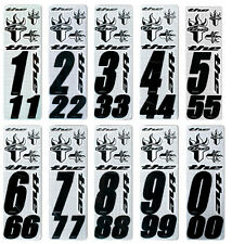THE Number Sticker Kit (3 numbers & 6 stickers) suit BMX or MTB (Black)