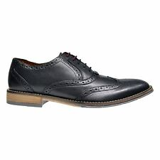 Hush Puppies Style Brogue Mens Smooth Leather Wing Tip Brogue Oxford Shoes