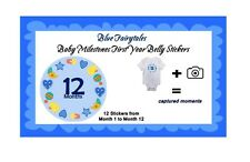 Milestone Baby Boy Belly Stickers and Bodysuits - Fairy Tales - Blue