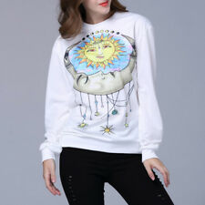 Women's Round Neck Long Sleeve Personalized Tops Sweatshirt Pullover Hoodie