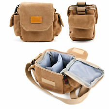 Brown Small Canvas Carry Bag For The Goodmans GBTSPKCUBE Speaker