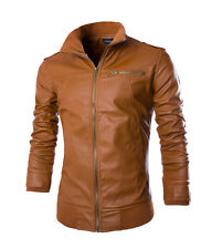Modo Vivendi | Mens PU Leather Jacket And Coats | Skinny Fit Motorcycle Jacket