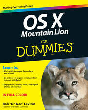 OS X Mountain Lion For Dummies (For Dummies (Computers)), LeVitus, Bob Book The