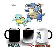 TAZA MAGICA SQUIRTLE BLASTOISE POKEMON EVOLUTION MAGIC MUG tasse es