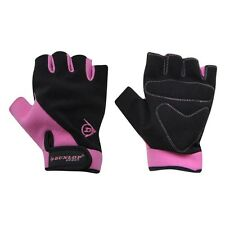 Dunlop Fingerless Pink+Black Bike Mitts/Cycling Gloves - Road / Mountain Biking