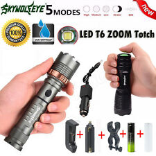 Zoomable 5Modes 5000LM CREE XM-L T6 18650 LED Rechargeable Flashlight Torch Lamp
