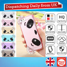 Cartoon Animals 3D Bear Face Bling Silicone Rubber Case Cover Skin For iPhone 6