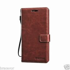 Bracevor iPhone 5 5s Wallet Leather Stand Case Flip Cover - Executive Brown