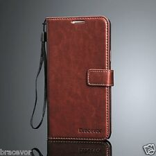Bracevor Samsung Galaxy Note 5 Leather Wallet Case Flip Cover - Executive Brown
