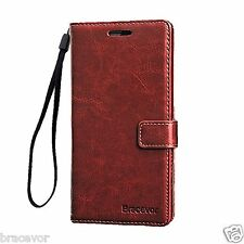 Bracevor Sony Xperia Z2 Wallet Stand Leather Case Flip Cover - Executive Brown