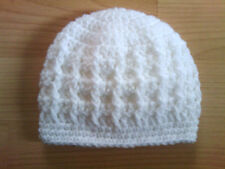 Handmade Crocheted Unisex Baby Cable Hat 100% Acrylic various colours & sizes