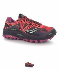 PALESTRA Saucony Xodus 6 GTX Ladies Trail Running Shoes Coral/Purple