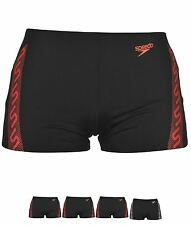PALESTRA Speedo Mono Aqua Shorts Mens Black/Red