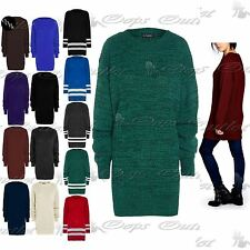 Womens Oversized Baggy Jumper Dress Ladies Chunky Knitted Long Sweater Plus Size
