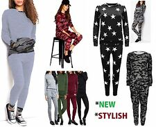 Womens 2Pcs Tracksuit Hoodies Sweatshirt Pants Sets Kits Sports Wear Casual Suit