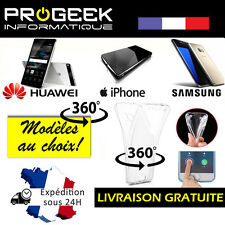 COQUE SILICONE 360 PROTECTION INTEGRALE  AVANT + ARRIERE  HUAWEI IPHONE SAMSUNG