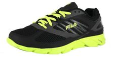 MEN'S FILA INTRINSIC RUNNING SHOES COLOR:BLK/DKSLVR/LIMEPCH