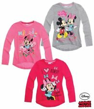 Minnie Mouse Pullover Gr. 92 - 128 Pullover Pulli Shirt Mädchen pink grau rosa