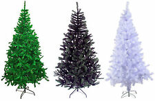 Traditional GREEN,WHITE & BLACK Indoor Artificial Christmas Xmas Tree Decoration