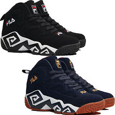 Mens FILA MB Jamal Mashburn Retro Basketball Shoes Sneakers Black/White or