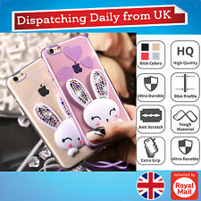 Bling Crystal Diamond Rabbit Stand Slim Case Soft Cover For iPhone 6 6s 7 7 Plus