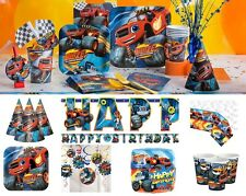 NEW Blaze and The Monster Machines Birthday Party Tableware Cups Plates Napkins