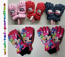 Hello Kitty Minnie Mouse Guanti Sci Ragazza Disney e Sanrio