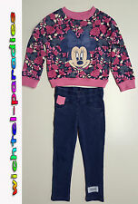 Minnie Mouse Set Felpa Jeggins Ragazza Disney 98-104, 110-116,122-128