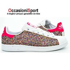 ADIDAS STAN SMITH PERSONALIZZATA GLITTER MULTICOLOR