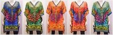 PLUS SIZE FUNKY HIPPIE BOHO JEWEL STYLE LEOPARD PRINT KAFTAN DRESS FREESIZE