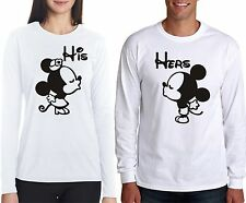 Osiyankart full sleeves His Minnie her mickey couple t shirt 4 all hot and sexy