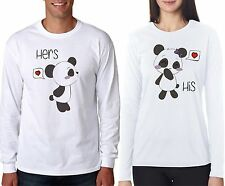 Osiyankart full sleeves His Panda Her Panda couple t shirt 4 all hot & sexy coup