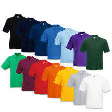 FRUIT OF THE LOOM POLOSHIRT 65/35 PIQUE POLO SHIRT T-SHIRT S  M  L  XL  XXL  3XL