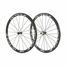 VCYCLE V38T Ruote Powerway R36 Raggiatura Straight-Pull 38mm Tubolare Carbon Set