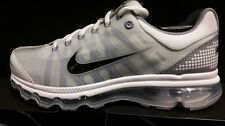 Men's Nike Air Max+ 2009 Running Shoes - White/Black