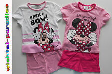 Minnie Mouse Pigiama estate manica corta Ragazza rosa Disney 98 104 116 128
