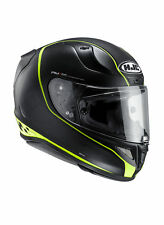 Casco Moto Racing Integrale In Fibra HJC RPHA 11 RIBERTE Nero Opaco - Giallo