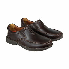 Clarks Un.Tilary Easy Mens Brown Leather Casual Dress Slip On Loafers Shoes