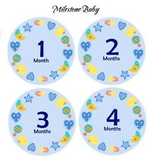 Milestone Baby Monthly Age Belly Stickers and Bodysuits - Blue Fairy Tales