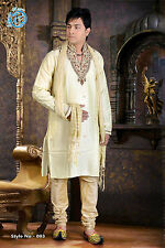 MEN INDIAN DESIGNER BOLLYWOOD KURTA SHERWANI 2pc SUIT (WORLDWIDE POST)