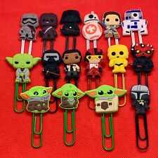 Star Wars - Bobblehead Cartoon Bookmark Paperclip R2D2 BB8 Rey C3PO Yoda - NEW