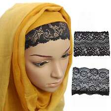 Under Cap Hijab Scarf Tube Bone Bonnet Patterned Lace Net Head Band