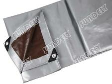 210gsm Heavy Duty Tarpaulin Silver Waterproof Strong Cover Ground Sheet Tarp