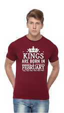Kings Are Born In February - Men Printed T-shirt