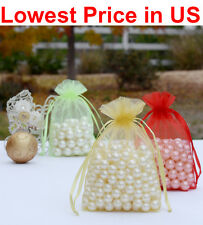 """50/100/500 4""""x6"""" Organza Wedding Party Favor Gift Candy Bags Jewelry Pouch"""