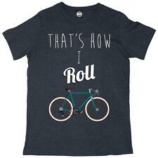 Batch1 'Thats How I Roll' Mens T-Shirt—Retro Bicycle Print, Cycling Gift For Dad